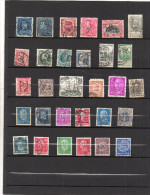 EUROPE - Lot De 30TIMBRES- PERFORES-stamps PERFORATED- Belgique*Espagne*Allemagne - Stamps