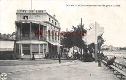 17 - ROYAN  - Le Café Des Bains  Et Vue De La Grande Conche - Dos Vierge    - 2 Scans - Royan