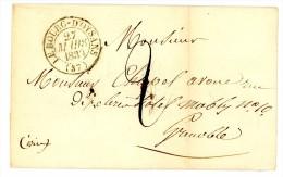 ISERE LAC 1839 LE BOURG D'OISANS TYPE 13 TAXE 2 => GRENOBLE - 1801-1848: Precursors XIX