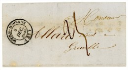 ISERE LAC 1850 BOURG D´OISANS TYPE 14 TAXE 25 => GRENOBLE - Postmark Collection (Covers)
