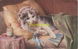 CPA ILLUSTRATEUR REICHERT ** ARTIST SIGNED CAT REICHERT - Katzen