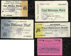 ALLEMAGNE . LOT DE 5  BILLETS . - [ 3] 1918-1933 : Weimar Republic