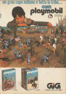 Playmobil - Gran Capo Indiano E Tribù - Pubblicità 1977 - Advertising - 9187 - Publicités