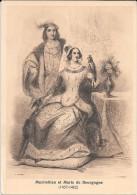 Maximilien Et Marie De Bourgogne. Lévrier, Faucon, Toison D'Or. Dessin De Chaillot Et Bekkers. - Personnages Historiques
