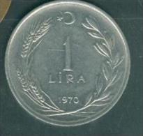 Turquie 1 Piece De 1 Lire De 1970 Pia7312 - Türkei