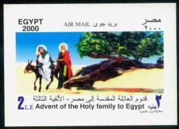 EGYPT 2000 M MILLENNIUM / THE VIRGIN TREE /  ADVENT OF THE HOLY FAMILY Souvenir Sheet  MNH - Nuevos