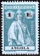 ANGOLA-1914,  CERES, 1 E.  D.15 X 14  Pap. Porc. Col. Esp.  *  MH  Afinsa Nº 157 - Angola