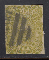 Tasmania Used Scott #AR1 3p St. George And The Dragon, Green Imperf Cancel: Bar 'Hobart' - 1853-1912 Tasmania
