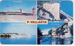MEXICO - PUERTO VALLARTA, Jal., Cuatro Aspectos, El Aeropuerto, Hotel Camino REal, Rada Puerto Interior ... - México