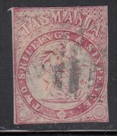 Tasmania Used Scott #AR2 2sh6p St. George And The Dragon, Carmine Imperf - 1853-1912 Tasmania