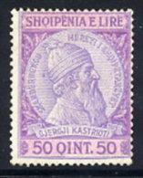 ALBANIA  1913 Skanderbeg Definitive 50 Q.. LHM / *.. Michel 33 - Albania