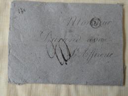 Lettre Papier Chiffon Taxee 20 Pr St Affrique Aveyron Mr Durand Avoue - 1801-1848: Precursors XIX
