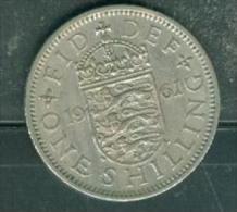 Great Britain 1 Shilling 1961.   Pia7404 - I. 1 Shilling