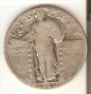 MONEDA  DE PLATA DE ESTADOS UNIDOS DE 1 QUARTER DEL AÑO 1929  (COIN) SILVER-ARGENT - EDICIONES FEDERALES
