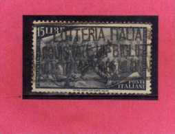 ITALIA REPUBBLICA ITALY REPUBLIC 1948 RISORGIMENTO LIRE 15 USATO USED OBLITERE´ - 6. 1946-.. Repubblica
