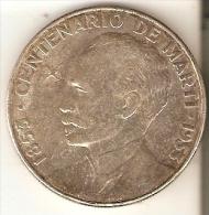 MONEDA DE PLATA DE CUBA DE 1 PESO DEL AÑO 1953  (COIN) SILVER-ARGENT - Cuba