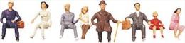 - FALLER - Figurines 1/87° - Personnes Assises - Boite De 8  -  Réf 150703 - HO Scale