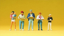 -PREISER  - Figurines 1/87° - Personnes Au Self - Boite De 5 -  Réf 10367 - HO Scale