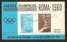 Panama 1960 Y Vertn° Bloc 8 (°) Used Cote 40 FF - Panama