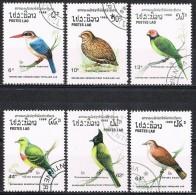 K372 FAUNA VOGELS BIRDS OISEAUX VÖGEL AVES DUIF DOVE TAUBE LAOS 1988 Gebr / Used - Non Classés