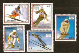 Paraguay 1990 Yvertn°  2500-2504 *** MNH Cote 90 FF Sport - Panama