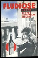 Cpa Pub Fludiose Lutte Contre Le Surmenage Scolaire Au Dos : Laboratoire De Médecine Expérimentale      AO36 - Publicité