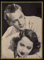 RARE ! CARTE DE CINEMA Publicitaire - GARY COOPER ET MERLE OBERON - AU VOG ( Avenue Louise 35 ) - Attori