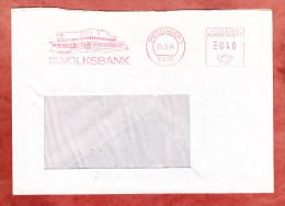 Brief, Absenderfreistempel, 100 Jahre Volksbank, 40 Pfg, Metzingen 1974 (61501) - BRD
