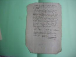 MARCOING DIOCESE DE CAMBRAI EXTRAIT DES REGISTRES DES ACTES DE BAPTEME  QUENTIN DOYEN CURE DU 2 JUILLET 1822 - Manuskripte