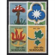 Surinam 1987 40 Jahre Pfadfinderinnen In Surinam 1210/1213 Postfrisch - Surinam