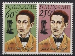 Surinam 1992 140. Geburtstag Von Jan E. Matzeliger 1418/1419 Postfrisch - Surinam