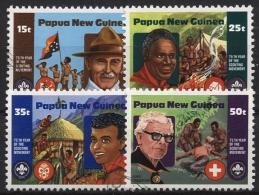 Papua Neuguinea 1982 Pfadfinder 427/30 Gestempelt - Papua-Neuguinea