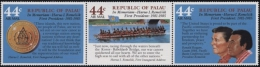Palau 1986 Präsident Remeliik 146/48 ZD Postfrisch - Palau