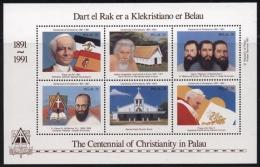 Palau 1991 100 Jahre Christianisierung Block 9 Postfrisch (C21516) - Palau