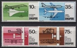 Singapur 1978 Geschichte Der Luftfahrt 318/21 Postfrisch - Singapur (1959-...)