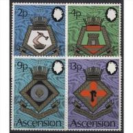 Ascension 1973 Schiffswappen Der Royal Navy 166/169 Postfrisch - Ascension (Ile De L')