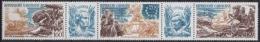Gabun 1976 200 Jahre Unabhängigkeit Der USA 589/91 ZD Postfrisch (C27009) - Gabun (1960-...)