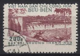 Vietnam-Nord 1956 Instandsetzung Des Staudammes Von Bai-Thuong 51 C Gestempelt - Viêt-Nam