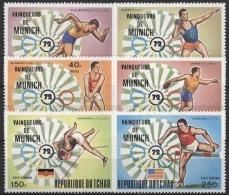 Tschad 1972 Sieger Der Olympiade München 620/25 A Postfrisch - Chad (1960-...)