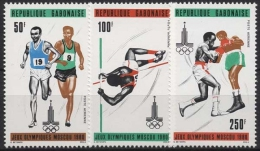Gabun 1980 Olympiade Moskau 733/735 Postfrisch - Gabun (1960-...)