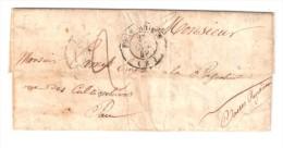 Lettre De FOIX ARIEGE ,22 OCT 1849,taxée, D'un Militaire Chasseur Au 8e Léger, En Départ Pour L'Afrique > Pau, TB - 1849-1876: Classic Period