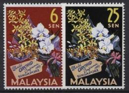 Malaysia 1963 Internationale Orchideen-Konferenz Singapur 4/5 Postfrisch - Malaysia (1964-...)