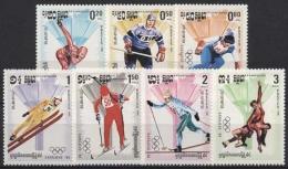 Kambodscha 1984 Olympiade Sarajevo 538/44 Postfrisch - Cambodia