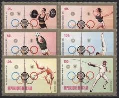Tschad 1972 Olympiade München 582/87 A Postfrisch - Tsjaad (1960-...)