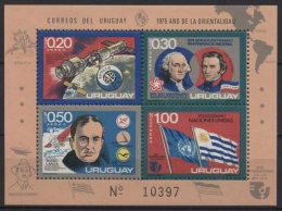 Uruguay 1975 150. Jahrestag Der Unabhängigkeit Block 26 Postfrisch (C22526) - Uruguay