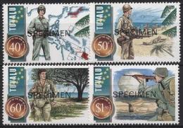 Tuvalu 1995 50. Jahre Beendigung Des Zweiten Weltkrieges 725/28 Postfrisch - Tuvalu (fr. Elliceinseln)
