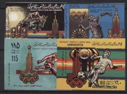 Libyen 1979 Olympiade 1980 Moskau 767/770 II B Postfrisch Geschnitten - Libye