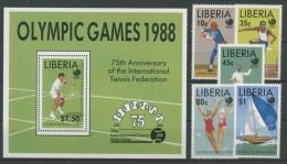 Liberia 1988 Olympiade 1424/28 Block 119 Postfrisch (G4731) - Liberia