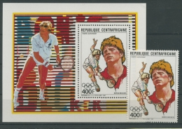 Zentralafrikanische Republik 1988 Boris Becker 1310 Block 434 Postfrisch (R4650) - Repubblica Centroafricana