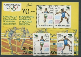 Somalia 1987 Olympiade 398/99 Block 23 Postfrisch (R4770) - Somalia (1960-...)